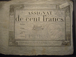 An 3    100 Francs - Assegnati