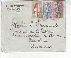 Lettre De Guadeloupe Point à Pitre Pour Bordeaux   1929 - Storia Postale