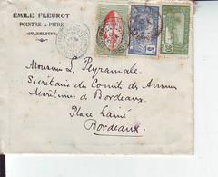 Lettre  De Guadeloupe Pointe à Pitre   Pour Bordeaux 1922 - Storia Postale