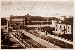 Cartolina - Livorno - Stazione S.T.E.F.E.T. - Accademia Navale - 1940 - Livorno