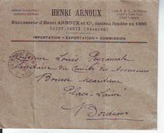 Lettre  De Saint Denis   Pour Bordeaux   1931 - Lettres & Documents