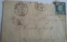 FRANCE - Enveloppe Et Son Contenu Avec Obl. GC 6134 HENAN-BIHEN Sur N° 60 Avec Cachet BM - RARE - 1849-1876: Klassik