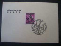 Deutsches Reich Besetzungen 1938-45- Deutsche Post Osten, 50 Gr Auf Karte Mit Sonderstempel Krakau Mi. 24 - Occupation 1938-45