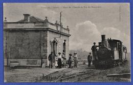 CPA 69 QUINCIE (Rhône) - Gare Du Chemin De Fer Du Beaujolais - Locomotive PINGUELY 030 CFB N°2 - Altri Comuni