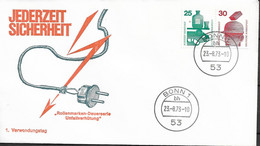 1973 Allem. Fed. Deutschland  Mi W 45  FDC Unfallverhütung - FDC: Sobres