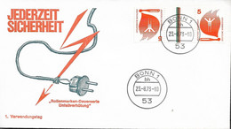 1973 Allem. Fed. Deutschland  Mi KZ 10 FDC Unfallverhütung - FDC: Sobres