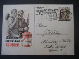 Deutsches Reich Ganzsache 1940-  2. Kriegs-Postkarte Winterhilfswerk - Entiers Postaux