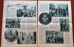 2 Pages , 2 Blz Uit Tijdschrift De Stad Antwerpen 1931: Semana Santa In Sevilla Spanje - [1] Until 1980