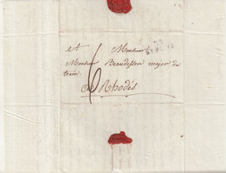 "FRANCE : MP . "" 33 ST PONS""  . TAXEE . 1814 . - 1801-1848: Precursors XIX"