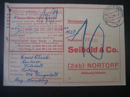 Deutschland 1960- Werbeantwort Honighaus Seibold Mit 10 Pf Nachgebühr - Briefe U. Dokumente