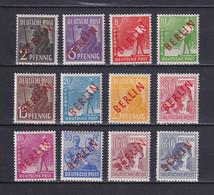GERMAN BERLIN 1949, Mi# 21-32, CV €220, Short Set, Personalities, MH - Nuovi