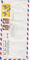 Taiwan - Lettre De 1977 - Oblit Taipei - Papillons - Rails Chemin De Fer - - Briefe U. Dokumente
