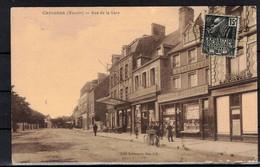 CPA 50  - CARENTAN  ( Ref 50 - 457 )  Rue De La Gare - Tirage Sépia - Carentan