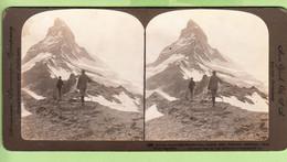 SUISSE - PIC Du MATTERHORN - Switzerland - Photo Stéréoscopique - New York Broaway - 2 Scans - Stereoscopic