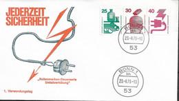 1973 Allem. Fed. Deutschland  Mi W 46 FDC Unfallverhütung - FDC: Sobres