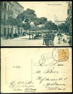 Spanje 1913 (?) Ansichtkaart Cádiz Plaza De Topete Naar Nederland - Cádiz