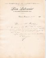 39 VILLARD LA RIXOUSE COURRIER 1910 Fabrique Re LUNETTES Léon LABOURIER - X90 JURA  Prés SAINT CLAUDE - 1900 – 1949