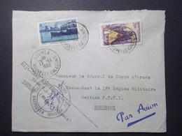 Marcophilie - Nouvelle Calédonie NOUMEA Cachet Militaire 1952 (2698) - Militaria