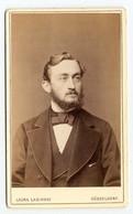 FOTO PHOTO CDV 19 ème SIECLE LAURA LASINSKY DÜSSELDORF - BEL HOMME BARBU Et MOUSTACHU - BARBE MOUSTACHE - 19 Th CENTURY - Antiche (ante 1900)