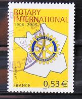 FRANCE 2005 - Cachet à Date N° 3750 - Centenaire Du Rotary - Usados