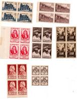 J2069  Ensemble De Tp ** Des Annees 40 Dont Surtaxes En Blocs De 4 - Unused Stamps