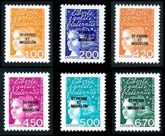 ST-PIERRE ET MIQUELON 1998 - Yv. 663 à 668 ** Faciale= 3,56 EUR - Série Marianne Du 14 Juillet (6 Val.)  ..Réf.SPM12163 - Neufs