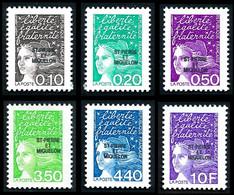 ST-PIERRE ET MIQUELON 1997 - Yv. 656 à 661 ** Faciale= 2,85 EUR - Série Marianne Du 14 Juillet (6 Val.)  ..Réf.SPM12157 - Neufs