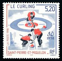 ST-PIERRE ET MIQUELON 1998 - Yv. 670 **   Faciale= 0,79 EUR - Curling Aux JO De Nagano  ..Réf.SPM12169 - Unused Stamps