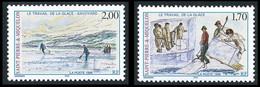 ST-PIERRE ET MIQUELON 1998 - Yv. 672 Et 673 ** Faciale= 0,56 EUR - Le Travail De La Glace (2 Val.) ..Réf.SPM12175 - Unused Stamps