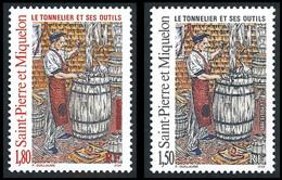 ST-PIERRE ET MIQUELON 1995 - Yv. 612 Et 613 **   Faciale= 0,50 EUR - Le Tonnelier Et Ses Outils (2 Val.) ..Réf.SPM12087 - Unused Stamps