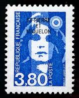 ST-PIERRE ET MIQUELON 1996 - Yv. 627 **   Faciale= 0,58 EUR - Mar.Bicentenaire 3f80 Bleu Avec Surcharge  ..Réf.SPM12105 - Neufs