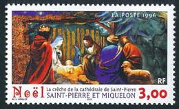 ST-PIERRE ET MIQUELON 1996 - Yv. 638 **   Faciale= 0,46 EUR - Noël. Crèche Cathédrale De St-Pierre  ..Réf.SPM12120 - Unused Stamps