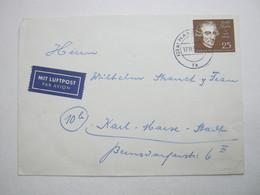 1959 , 25 Pfg. Händel Auf Luftpostbrief Aus Hamburg - Briefe U. Dokumente