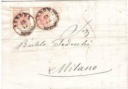 2 X CENT.15 DA VERONA A MILANO - Lombardo-Vénétie