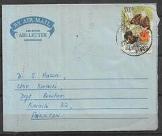 USED AIR MAIL AEROGRAMME MALAYSIA TO PAKISTAN - Malaysia (1964-...)