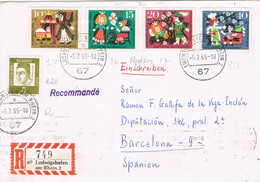 38478. Carta Certificada LUDWIGSHAFEN (Alemania Federal) 1965 To Barcelona - Briefe U. Dokumente