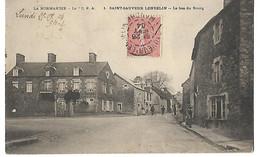 50 SAINT SAUVEUR LENDELIN LE BAS DU BOURG 1904 CPA 2 SCANS - Otros Municipios
