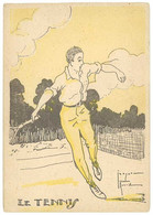 Cpa Signée Jacques Robert - Le Tennis  ( ILL ) - Andere Zeichner
