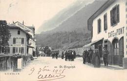 Saint St Gingolph Café Du Pont Douanes Douane Suisse 833 CT & Cie - VS Wallis
