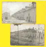 Lieu à  Identifier LES FERRIERES 2 Cartes Photos Construction De Maisons Neuves () - A Identificar