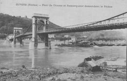 G0412 - GIVORS - D69 - Pont De Chasse Et Remorqueur Descendant Le Rhône - Givors