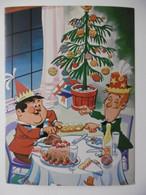 Bandes Dessinées : LAUREL & HARDY 1974 - Lot De 5 Cartes Postales HUMOUR BD Noël Sports Campagne Et école Enfants - Cómics