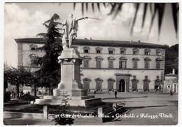 27 - CITTA' DI CASTELLO - MON. A GARIBALDI E PALAZZO VITELLI - PERUGIA - 1954 - Perugia