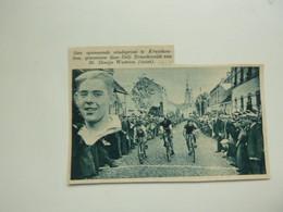 """Origineel Knipsel ( 9426 ) Uit Tijdschrift """"  De Stad """"  1935 :  Wielrennen  Renner  Coureur   Kruishoutem - Zonder Classificatie"""