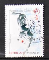 FRANCE 2006 - Cachets à Date N° 3865 - Année Chinoise Du Chien - Usados