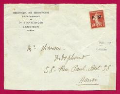 Enveloppe En Franchise Datée De 1922 - Indochine - Viêt Nam - Lang Son - Voyagée à Destination D'Hanoï - Brieven En Documenten
