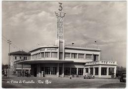 CITTA' DI CASTELLO - TRE BIS - DISTRIBUTORE DI BENZINA AGIP - PERUGIA - 1954 - AUTOMOBILI - CARS - Perugia