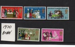 GB  1970 Anniversaries  SG 819-823  Mint NH - Neufs