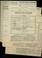 SNCF  COLIS POSTAUX Lot De 3 AVIS DE NON LIVRAISON Vierges   Référence R. 2201  Voir Descriptif  2 Scan - Otros