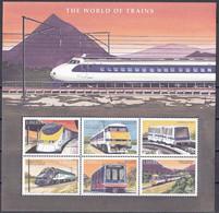 Md_ Liberia 2001 - Mi.Nr. 3893 - 3898 Kleinbogen - Postfrisch MNH - Eisenbahnen Railways Lokomotiven Locomotives - Trains